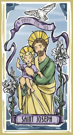 St. Joseph was Jesus adoptive father and the Virgin Marys husband. He would have most likely received the much coveted, Husband Of The Year award if