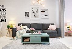 Integrate bed in the living room - 3 one-room apartments as inspiration - Decoration Gram Tiny Spaces, Small Rooms, One Room Apartment, Studio Apartment Design, Small Room Design, Lounge Areas, Living Room Inspiration, Living Room Designs, Bedroom Decor