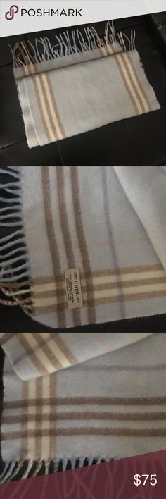 Burberry Cashmere Scarf Gorgeous pastel toned Cashmere scarf. Authentic Burberry Burberry Accessories Scarves & Wraps