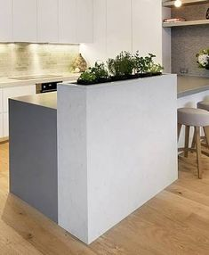 Fresh herbs right at your fingertips? YES please 🙏🏻  What do you think of this uber functional #kitchenisland with #indoorgarden? - - - #kitchendesign #kitchenideas #interiordesign #inspiration #thomassmithdesign #cherenets