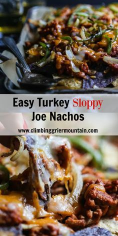 Easy Turkey Sloppy Joe Nachos