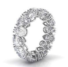 Pear Shape Eternity Diamond Ring