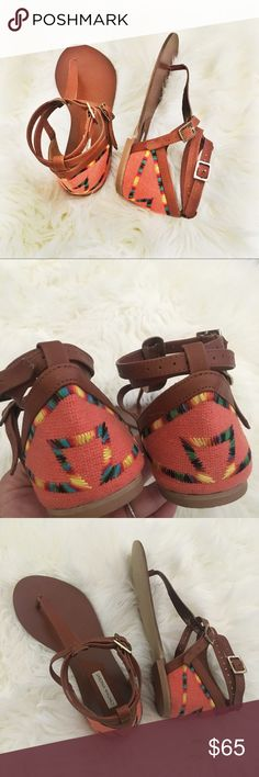 Cynthia Vincent Boho Tribal Sandals Cynthia Vincent bohemian Boho tribal sandals. New, only tried on. Offers welcome Cynthia Vincent Shoes
