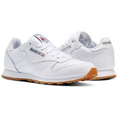 1b50d17cd7eec1 Reebok Shoes Unisex Classic Leather in White Gum Size 5.5 - Retro  Running