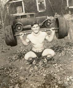 Vintage Weightlifter