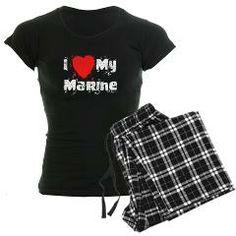 I <3 My Marine Women's Dark Pajamas> I <3 My Marine> The Ranting Zebra