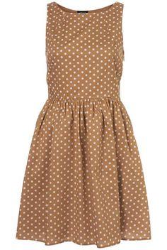 Tan Spot Fifties Style Sundress from Topshop. $75