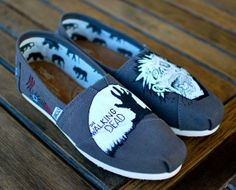 The Walking Dead Toms  Ash Grey Canvas Classics by BStreetShoes, $149.00