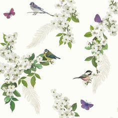 Mitzu White Birds Silver Glitter Floral Feature Wallpaper Arthouse 670401 in Home, Furniture & DIY, DIY Materials, Wallpaper & Accessories Feather Wallpaper, Botanical Wallpaper, Embossed Wallpaper, Glitter Wallpaper, Tree Wallpaper, Wallpaper Paste, Wallpaper Borders, Butterfly Wallpaper, Brick Wallpaper Roll
