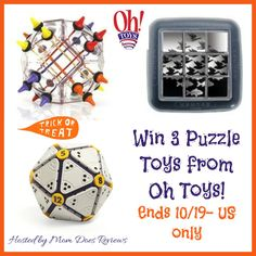 Win 3 great toys from Oh Toys! Escher Toy: Do you get a kick out of turning your perceptions inside out to solve a puzzle?  If so, the ingenious Escher Mirror Puzzle will have you stretching your sense of space and relationships as you try to place the...