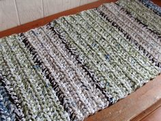 Plastic Bag Doormat: Knit or braid the plarn into a floor mat — the perfect surface for wiping the dirt off your shoes.   Source: Etsy user KJLSDesigns