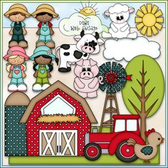 Fun On The Farm 1 - NE Kristi W. Designs Clip Art: Digi Web Studio, Clip Art, Artesanato Printable & Digital Scrapbooking!
