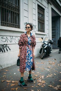 Street style at Milan Fashion Week Fall 2018