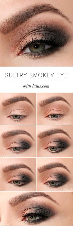 Eye Makeup - Sexy Eye Makeup Tutorials - Sultry Smokey Eye Makeup Tutorial - Easy Guides on How To Do Smokey Looks and Look like one of the Linda Hallberg Bombshells - Sexy Looks for Brown, Blue, Hazel and Green Eyes - Dramatic Looks For Blondes and Brunettes - thegoddess.com/sexy-eye-makeup-tutorials - Ten (10) Different Ways of Eye Makeup