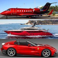 PJ Yacht or Supercar? Jets Privés De Luxe, Luxury Jets, Luxury Private Jets, Private Plane, Ferrari F12, Carros Lamborghini, Maserati, Bugatti, Jet Privé