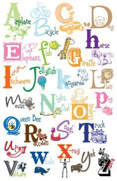 Kids Alphabet Poster - Digital File DIY Printable