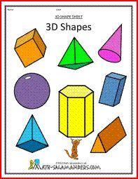 3D shapes 3d Geometric Shapes, 2d And 3d Shapes, Shapes For Kids, Solid Shapes, 3d Shapes Worksheets, Geometry Worksheets, 3 Dimensional Shapes, Shapes Worksheet Kindergarten, Printable Shapes