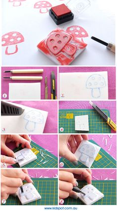 Make your own stamps... CUTE!