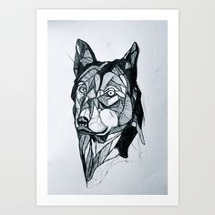 Dog Art Print by Josiah Atkins - $18.00