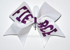 3 Wide Luxury Cheer Bow  Purple Fierce on by BowsWithAttitude, $13.99