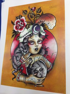fortune teller crystal ball tattoo - Google Search