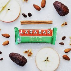 LARABAR Apple Pie made of just fruits, nuts, and spices. This apple pie fits in your pocket or a lunchbox and is a delicious vegan, gluten-free, and dairy-free treat. Fruit And Nut Bars, Snack Brands, Dairy Free Treats, Lara Bars, Energy Bars, Quinceanera, Apple Pie, Lunch Box, Spices