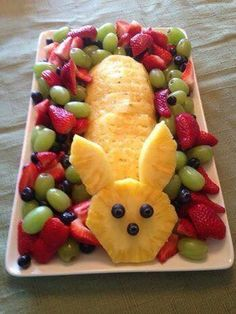 Bunny fruit platter #Easter