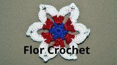 Flor N° 25 en tejido crochet tutorial paso a paso.