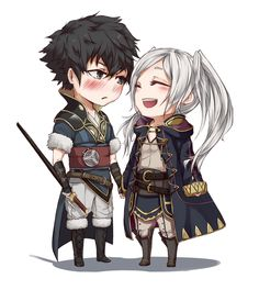 chibi commission :: Lon'qu and avatar by ReroReroCandy.deviantart.com on @DeviantArt - Im sorry but this is too adorable