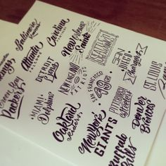 --LETTERING SKETCHES-- on Typography Served