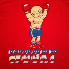 "Vintage 1980's ""WOCKY"" Rocky movie spoof Elmer Fudd t-shirt"
