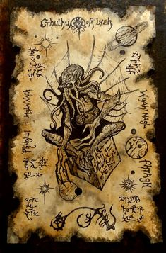 What is the best book inspired by Cthulhu have you read let me know in the comments . The art isnt mine but it is amazing Necronomicon Lovecraft, Lovecraft Cthulhu, Hp Lovecraft, Cthulhu Tattoo, Cthulhu Art, Call Of Cthulhu, Mythical Creatures Art, Mythological Creatures, Arte Horror