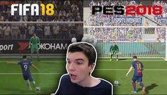 QUAL TÁ MELHOR?? PÊNALTIS DO FIFA 18 X PÊNALTIS DO PES 18!!