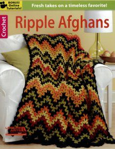 Ripple Afghans  - cover design is beautiful