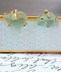 Valentine/'s Day GiftRaw fluorite studs Gift for Her Jewelry Gift For Him