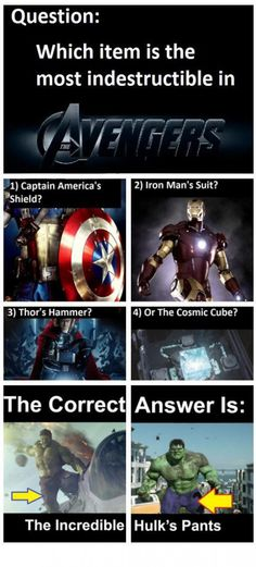 Most Indestructible Item in Avengers! - http://lmaomemes.com/most-indestructible-item-in-avengers/