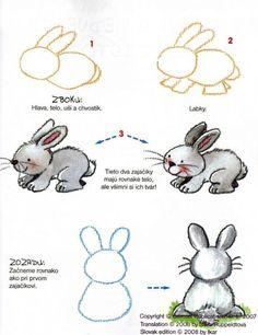 com dibuixar un conillet