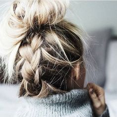 Image de hair, braid, and blonde