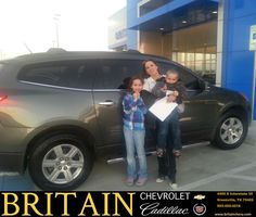 https://flic.kr/p/CWaQhq | Happy Anniversary to Kristi on your #Chevrolet #Traverse from Mike Donahoe at Britain Chevrolet Cadillac! | deliverymaxx.com/DealerReviews.aspx?DealerCode=I827
