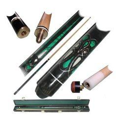 Trademark Poker 40-601LASER Emerald Green Laser Designer Billiard Cue : buy at herpderp.net