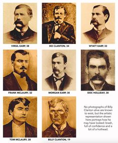 """True West Magazine on Instagram: """"How old were the gunfighters at the Tombstone Street Fight? . . . To read more visit the October 2021 link in our bio and find this…"""" Morgan Earp, Tombstone Epitaphs, Doc Holliday, Street Fights, Face Off, Old West, Male Face, Historian, American History"""
