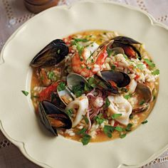 Seafood and vegetable risotto: a classic seafood risotto recipe from one of Italy's top chefs, Gennaro Contaldo