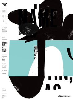 """AIGA Austin, Texas. 2014. """"This is my poster design for an AIGA (Association for Creative Awesomeness) lecture in Austin, Texas, as originally designed and sen"""