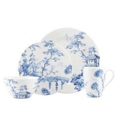 Scalamandre by Lenox Toile Tale Dinnerware Collection