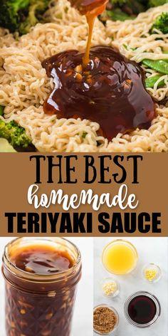 Best Teriyaki Sauce, Teriyaki Marinade, Homemade Teriyaki Sauce, Homemade Sauce, Recipes With Teriyaki Sauce, Teriyaki Stir Fry, Stir Fry Recipes, Sauce Recipes, Cooking Recipes