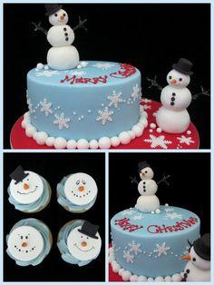 christmas idea de la torta con el muñeco inspirado en diseños de la torta de michelle