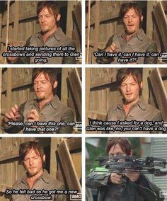 Norman Reedus on why Daryl Dixon got a new crossbow. The Walking Dead.