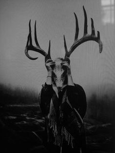 scary Black and White creepy horror kill black supernatural Scared animal crazy dark skull mind human mad mask mindfuck darkness thriller deer spooky scare killer animal skull deer skull Where Is My Mind crazyness madness unatural fwteiniadtr Creepy Horror, Creepy Art, Scary, Horror Pics, Dark Fantasy Art, Satanic Art, Arte Obscura, Witch Aesthetic, Aesthetic Indie