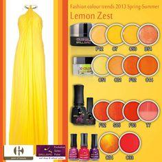 Lemon Zest Nail Shop, Fashion Colours, Beauty Nails, Color Trends, Gel Polish, Swatch, Salons, Eyeshadow, Lipstick