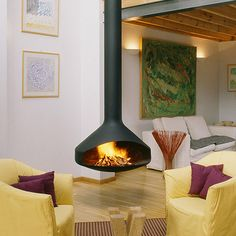 Floating fireplace!
